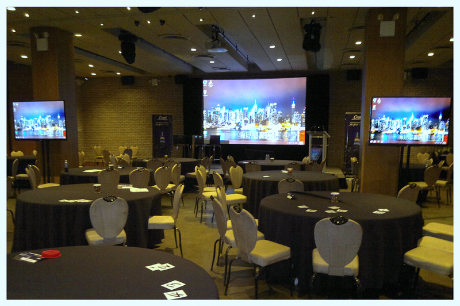 AV projection and TV rentals, AV service and events staging in Dream Hotel NYC.